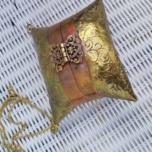 Copper and Brass clutch bag chain shoulder